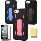 Case for Apple iPhone 5 S 5S  Cover Skin Stand PC Silicone Screen QW