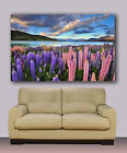 """New Zealand Huge canvas giclee print 30""""x40""""  art photography flowers, mountains"""