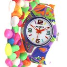 FW922J Stylish Colorful Jelly Silicone Violet Band Men Women Young Fashion Watch