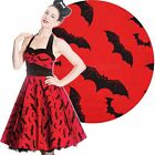 Hell Bunny Red Bat 50's Dress Rockabilly Pin Up Retro Halloween Gothic Horror