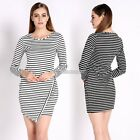Sexy Women's Long Sleeve Cocktail Party Evening Tunic Bodycon Pencil Dress Hot