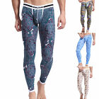 Sexy Mens Winter Thermal Underwear Pencil Pants Leggings Sleepwear Long johns