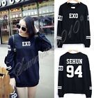 EXO SUHO SEHUN LUHAN Chanyeol Tao Kai Lay Long Sleeve Sweater Sweatshirt New Top