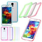 Thin Crystal Clear Transparent TPU Bumper Hard Case Cover For Samsung Galaxy S5
