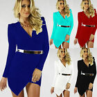 Women Bandage Bodycon Long Sleeve Evening Sexy Party Cocktail Mini Dress Dresses