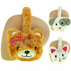 BNWT Childrens Boys Girls Novelty Animal Ear Muffs Dog Cat Bear Xmas Gift Winter