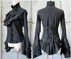 PUNK Gothic Lolita Long Sleeves Cosplay Costume Top Blouses