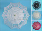 5 Colors Battenburg Lace Embroidery Parasol Bridal Wedding Umbrella Handmade 30""