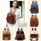 ZF0047 Ladies College School Bag New Faux Leather Vintage Rucksack Backpack