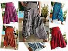 LADIES HAREM PANTS- BAGGY- SMOCKED - DEEP CUT-STRIPED-VARIOUS