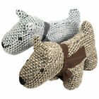 Knitted Fabric Dog Door Stop Cute Novelty 850g Weighted Animal Stopper Wedge