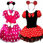 Girls Children Minnie Mouse Snow White Cinderella Princess Fancy Dress Costume