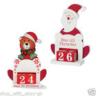 Wooden Advent Countdown Calendar - Santa Days Till Til Christmas Decoration BN