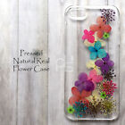 XMG Pressed Real Dry Flower Hand Craft Floral Bling Resin Hard Skin Case Cover