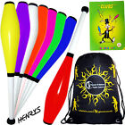 Henry's Delphin Juggling Club set - 3 Juggling Clubs +Club Juggling Book + Bag