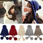 Women Lady Winter Ear Warm Knitted Crochet Slouch Baggy Beret Beanie Hat Cap ItS