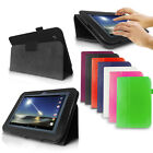 "LEATHER WALLET STAND CASE FOR TESCO HUDL 2 HUDL2 8.3"" TABLET + SCREEN PROTECTOR"