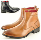 New Men's Leather Lined Zip Up Formal Chelsea Ankle Brogue Boots UK Sizes 6-12