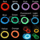 1M 2M 3M 4M 5M 10 colors Flexible EL Wire Neon Glow Light Christmas Party Decor