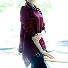 XD0018 Girl's Cardigan coat Outwear Knitwear Hollow Chiffon cotton knit sweater