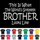 Worlds Greatest BROTHER Birthday Christmas Gift Funny T Shirt Youth Child Size