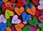 Wooden Heart Shaped Buttons for cardmaking scrapbooking sewing 20mm 5,10, 15