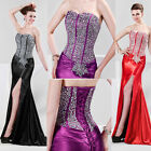2015 Mermaid Sequins Sparkly Prom Party Long Evening Pageant Dress Wedding Gown
