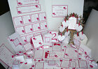 Handmade LOVE HEART Wedding Stationery Collection ~ Full Range ~ Any colour/Qty
