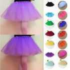 New Hot Women Girl Elastic Stretchy Tulle Dress Teen Adult Tutu 3 Layer Skirt