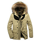 WY0019 Winter Mens fur collar Hooded  Warm thick cotton padded Outwear