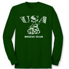 USA BOXING TEAM Trainer Sparring T-shirt Boxer Gloves Gym Long Sleeve Tee