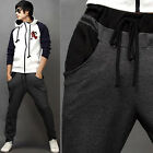 R58 Men's Loose Sports Trendy Casual Drawstring Harem Training Pants Trousers