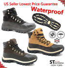 FREE $3.99 SOCKS Kingshow Mens Winter Snow Boots Genuine Leather Waterproof0705