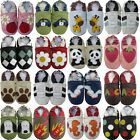 Carozoo  UK cow leather soft sole baby shoes prewalkers kids slippers up to 8y