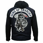 Authentic SONS OF ANARCHY SOA Logo Patch Highway Blue Denim Jacket M-3XL NEW