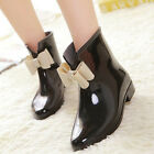 Fashion Korean cute bow Jelly shoes Waterproof Shoes skid PVC boots KX0003