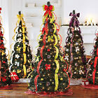 NEW Pre-Lit * 6 FT * Pop Up Pull Up Artificial CHRISTMAS TREE * Decorated