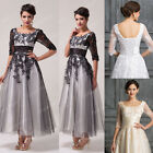 Vintage 1950s Style LACE Mother of the Bride Party Evening Prom ROCKABILLY Dress