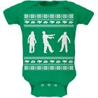 Zombie Ugly Christmas Sweater Green Soft Newborn Infant One Piece Onesie