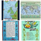 Marine Galley Cloths - Nautical Cotton Tea Towel - Various Designs - New - A362
