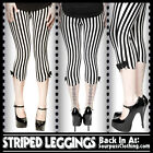 USA Sourpuss Rockabilly Gothic Circus Striped Capri Trousers Cropped