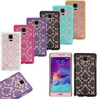 Carved Damask Vintage Pattern Hard Case Cover For Samsung Galaxy Note 4 Hottest
