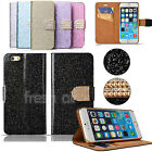 """Luxury Crystal Bling Glitter Flip Wallet Case Cover For iPhone 6 4.7"""" Plus 5.5"""""""