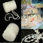 30M Garland Strand Acrylic Crystal Bead Curtain Wedding Party Tree Decoration