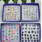 18Pairs/Set Earring Studs Pin Jewellery Gold Silver Heart Cross Dolphin Gift