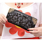 Unique Stone Pattern Zipper Long Purse Casual Women Ladies Leather like Wallet