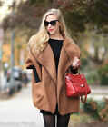 H&M Trend Wool Blend Oversized Cape Coat Camel Brown Jacket M UK 16-18 EU 42-44