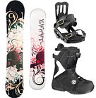 2014 Lamar ROSE 148 Womens Snowboard+Salomon Bindings+FLOW Vega BOA Boots NEW