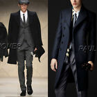 Unique Fashion Winter Long Trench Coat Men Jacket Blazer Coats Formal Office New