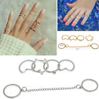 6pcs/Set  fashion charming Gold stack Crystal Cute Above Knuckle Ring Band HU